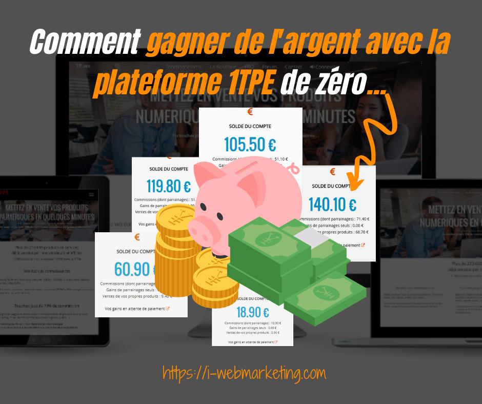 Gagner de l'argent avec 1TPE en utilisant les ressources du livre 1TPE Secrets